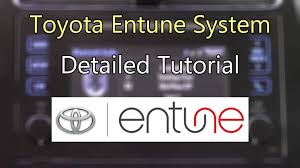 toyota entune system 2016 detailed tutorial tech help youtube