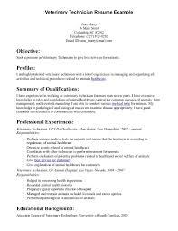 cover letter veterinary resume examples veterinary technician