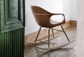 Nicaraguan Rocking Chairs Elephant Leather Rocking Chair By Kristalia Stylepark