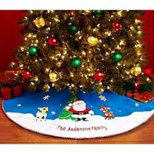 personalized rudolph tree skirt findgift