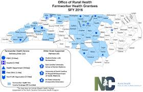North Carolina State Map by North Carolina Farmworker Health Program Nc Department Of Health