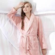 robe de chambre polaire femme robe de chambre polaire femme crevette à col châle lepeignoir fr