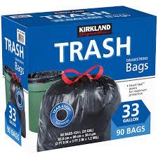 83 Gallon Deck Box by Kirkland Signature 33 Gallon Trash Bag 90 Count