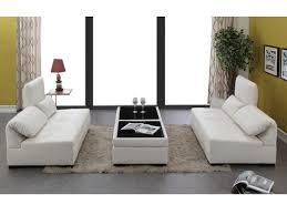 canape cuir modulable canapé modulable 6 places en simili blanc adrien