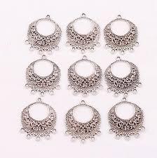spacer earrings open oval filigree flower 5 strand spacer end connecor fit tassel
