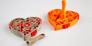 heart gifts s day gift idea 3d print this amazing geared heart pendant