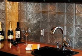 Tin Tile Backsplash  Kitchen Backsplash Designs Ideas  Designs - Tin tile backsplash
