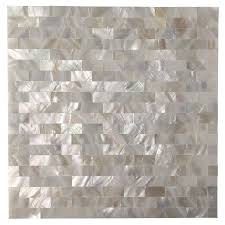 Artd Peel And Stick Kitchen Backsplash Tile Mother Of Pearl Shell - Peel and stick kitchen backsplash tiles