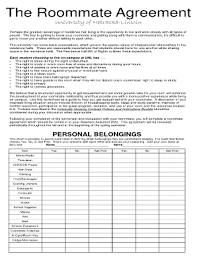 free roommate agreement template fillable online roommate agreement form gw housing fax email