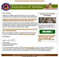 sofii defenders of wildlife multi channel direct marketing