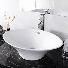 Oval Bathtub Aquaterior Artistic Oval Bathroom Porcelain Vessel Sink White