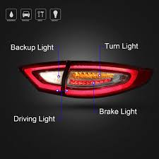 2012 ford fusion tail light bulb amazon com rcp rft01 aftermarket upgrade led taillight for 2012