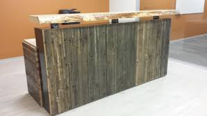 Oak Reception Desk Modern Rustic Executive Reception Desk Hand Crafted From