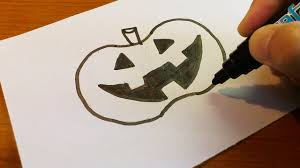 very easy how to draw a halloween jack o u0027 lantern 2016 art on