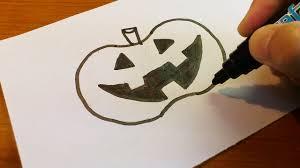 Easy To Draw Halloween by Very Easy How To Draw A Halloween Jack O U0027 Lantern 2016 Art On