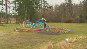 roller coaster for backyard dad builds backyard roller coaster youtube
