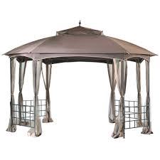patio gazebo home depot sunjoy cardiff 12 ft x 10 ft steel fabric gazebo l gz660pst