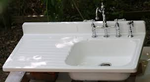 Antique Porcelain Kitchen Sink Image Of Farmhouse Kitchen Sink With Drainboard Awesome Antique