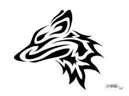 tribal wolf head by hybrid no1 on deviantart