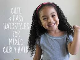 hairstyles mixed quick and easy hairstyles for mixed curly hair youtube