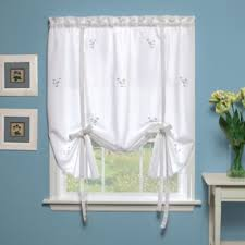 White Tie Curtains Buy Tie Up Curtains From Bed Bath Beyond
