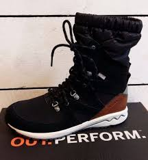 s waterproof boots uk s merrell stowe winter waterproof trainers in black uk