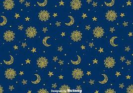 sun moon and sun gipsy seamless pattern free vector