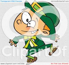 clipart of a cartoon energetic st patricks day leprechaun boy