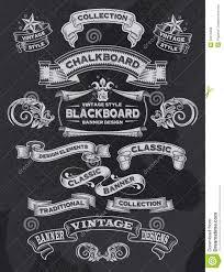 chalkboard banners retro calligraphic vintage ornament design