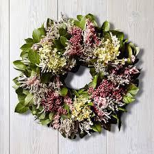 berry wreath hydrangea berry wreath williams sonoma