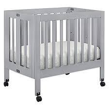 Grey Mini Crib Babyletto Origami Mini Crib In Grey Buybuy Baby