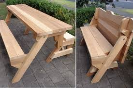 diy convertible picnic table bench bench decoration