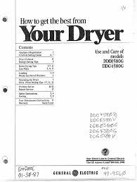 ge clothes dryer dde0580g user guide manualsonline com