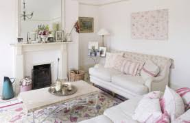 Shabby Chic Style Beige Living by Neutral Beige Family Room Interior Set In Shabby Chic Style In