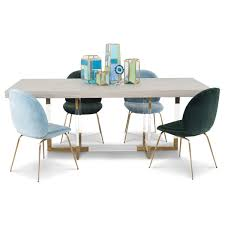 modern lucite and brass gold desk modshop modshop trousdale 2 dining table with light oak top