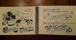 bj betts lettering guide tattoo lettering book sketchbook sketch