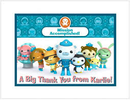 12 printed octonauts note or thank you by thenotecardlady on zibbet