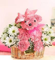 dog flower arrangement princess paws pink dog carnation floral arrangement in minneapolis