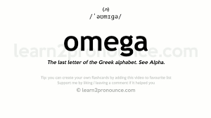 omega pronunciation and definition youtube