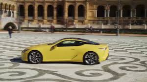 lexus yellow lexus lc 500 exterior design in yellow trailer automototv