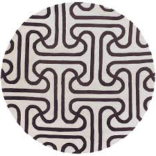 Modern Round Rugs by Chandra Iconic Modern 8 U0027 Brown Rug Collectic Home