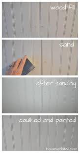 Unfinished Beadboard Paneling - diy how to install beadboard on walls and ceilings house updated