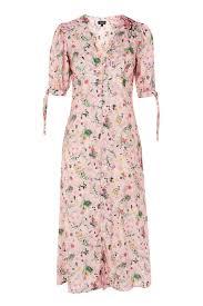 topshop dress floral print embroidered midi dress topshop