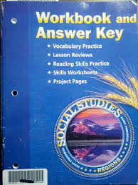 workbook and answer key social studies regions pearson scott