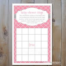 photo baby shower bingo template image