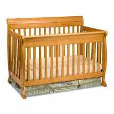Sleigh Crib Convertible Kalani 4 In 1 Convertible Sleigh Crib In Honey Oak M5501o By