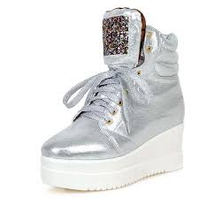 aliexpress buy new arrival hight quality white gold http www aliexpress item shoes women pu lace up glitter