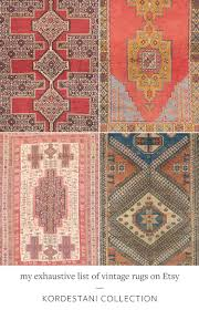 Interior Design Resources by Jojotastic My Exhaustive List Of Vintage Rugs On Etsy