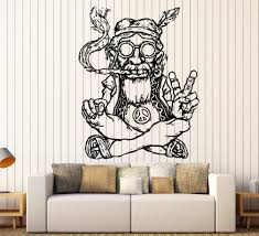 new design vinyl wall stickers home decor living room hippie in