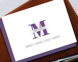 personalized notepads note cards stationery by papirstationery